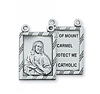 "STERLING SILVER 2PC SCAPULAR 30"" CHAIN & BOX"