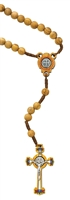 7MM OLIVE WOOD ST. BENEDICT ROSARY