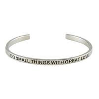 Cuff Bracelet, Do Small Things With Great Love, Silver-Plated Copper