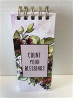 Count Your Blessings Notepad, 3x7