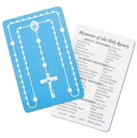 Mysteries of the Rosary Laminated Holy Card