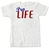 """Pro-Life"" Red White and Blue T-Shirt"