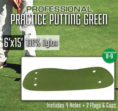 Professional Synthetic Turf Practice Putting Green  6 feet x 15 feet