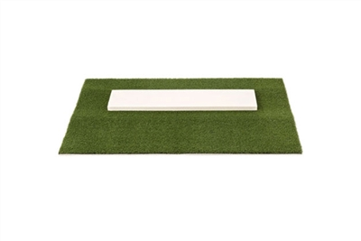 Premium Softball Pitching Mat, Green - 2 feet x 3 feet