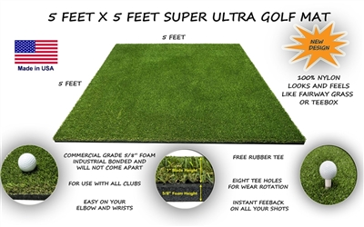 5 Feet x 5 Feet Super Ultra Golf Mat