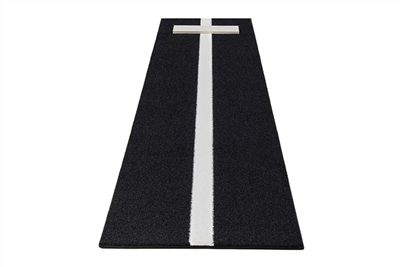 Pro-Ball Softball Pitching Mat With Power Line, Black - 3 feet x 10 feet