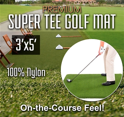 Premium Super Tee Golf Mat - 3 feet x 5 feet