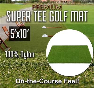 Premium Super Tee Golf Mat - 5 feet x 10 feet