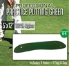 Professional Synthetic Nylon Practice Putting Green  5 feet x 12 feet