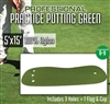 Professional Synthetic Nylon Practice Putting Green  5 feet x 15 feet