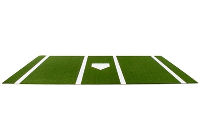 Platinum Synthetic Turf Baseball/Softball Hitting Mat with Home Plate and Lines, Green- 6 feet x 12 feet