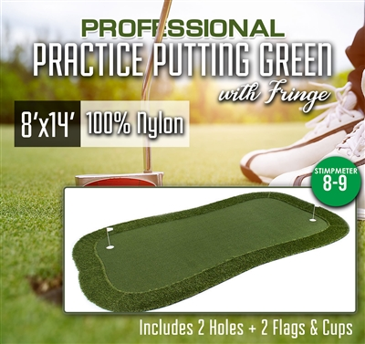 Professional Practice Putting Green With Fringe  8 x 14