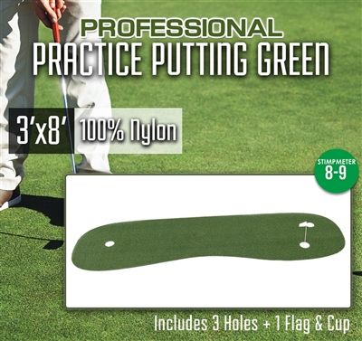 Professional Nylon Practice Putting Green 3' x 8'