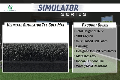 Simulator Golf Mat 4'x5'