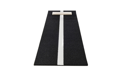 Pro-Ball Softball Pitching Mat with Power Line, Black - 3 feet x 7 feet