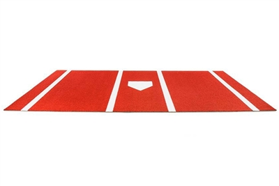 Pro-Ball Synthetic Turf Baseball/Softball Hitting Mat with Home Plate and Lines, Clay- 6 feet x 12 feet
