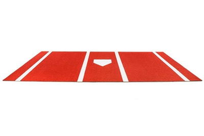 Platinum Synthetic Turf Baseball/Softball Hitting Mat with Home Plate and Lines, Clay- 6 feet x 12 feet
