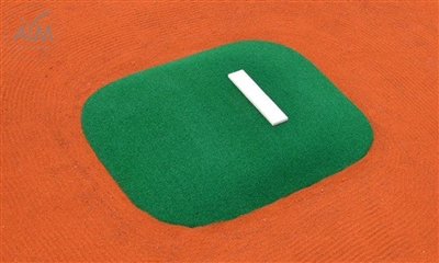 Allstar Portable Game Mound and Youth Training Fiberglass Pitching Mound, Green - 47 inches wide x 61 inches long x 4 inches tall