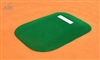 Allstar Portable Game Mound and Youth Training Fiberglass Pitching Mound, Green - 66 inches wide x 101 inches long x 8 inches tall
