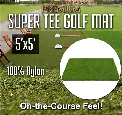Premium Super Tee Golf Mat 5 feet X 5 feet