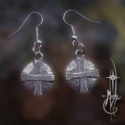 Solar Cross Earrings