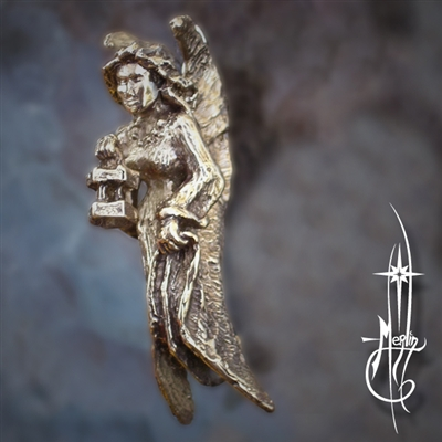 Bronze Light Bearer Fairy Sculpture