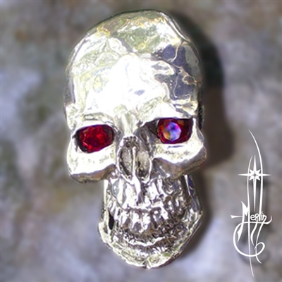 Skull Money Clip with Stones