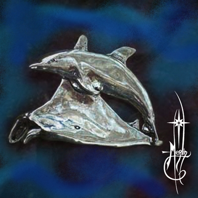 Dolphin and Manta Ray Amulet