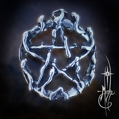 Small Pentacle of Fire Amulet
