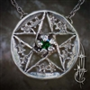 Oak Pentacle Amulet with Stone