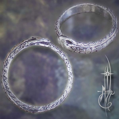 Ouroboros Ring with Scales