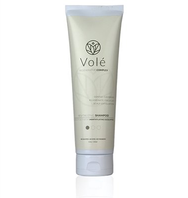 Vole Hair Revitalizing Shampoo with coconut-derived cleansers, eucalyptus, menthol, and avena sativa.