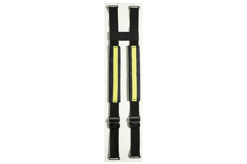 LION EZ H-BACK QUICK-ADJUST NON-STRETCH SUSPENDERS - YELLOW TRIM