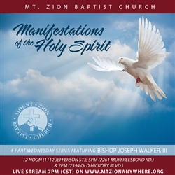 Manifestations of the Holy Spirit - Part 1