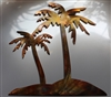 Two palm Island Metal Wall Art