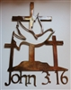 John 3:16 Cross METAL WALL ART DECOR
