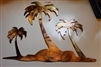 Three Palm Island Metal Wall Art