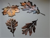 Leaf Assortment (4) Set 3 Metal Art Decor Copper/Bronze