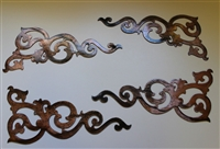 Decorative Corner Scroll Accents Metal Decor (4)