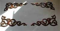 Decorative Corner Scroll Accents Metal Decor (4) small