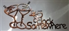 Its 5 O'clock Somewhere Martini Glasses Metal Wall Art Copper/Bronze