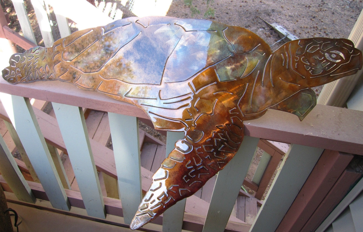 Beautiful Turtle, Turtle Metal Art, Wall Turtle, Sea Turtle FK96