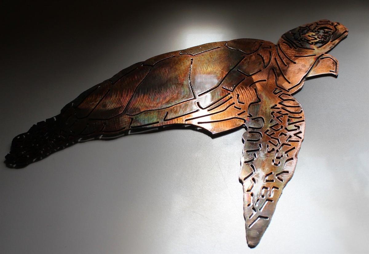 Turtle Wall Art turtle, turtle metal art, wall turtle, sea turtle