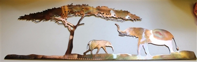 Safari Scene Metal Wall Art