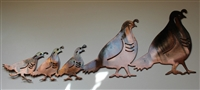 Arizona Quail Family by HGMW Metal Wall Art