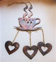 Coffee Metal Wall Art Wind Chime