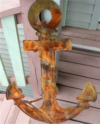 Nautical Anchor copper/bronze plated 36""