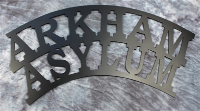 "Arkham Asylum Metal Wall Art 22"" wide"