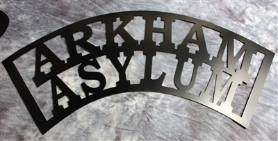 "Arkham Asylum Metal Wall Art 29 1/2"" wide"