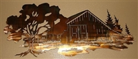 Barn Scene Metal Wall Art Decor